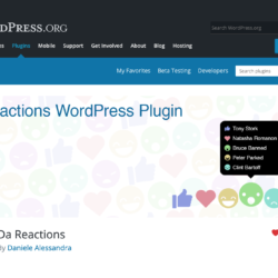 DaReactions screen on WordPress.org
